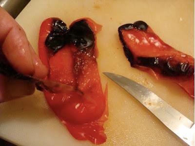 peeling pepper