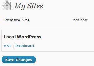 User Sites MultiSite WordPress 3.0
