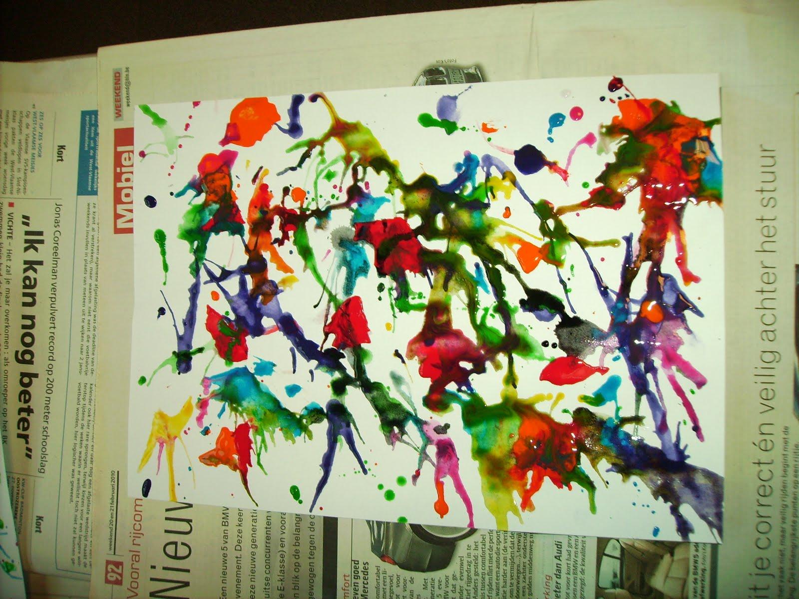 Schilderij Bij Action