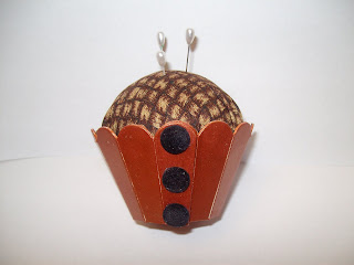 Scoreboard Cupcake Holder Pin Cushion