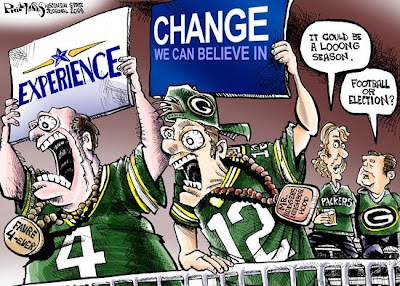 Experience vs. Change... Farve vs. Rodgers... we know how it goes.