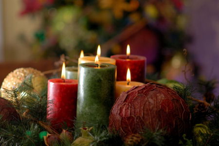 Free Christmas Desktop Wallpapers Christmas Candle Desktop