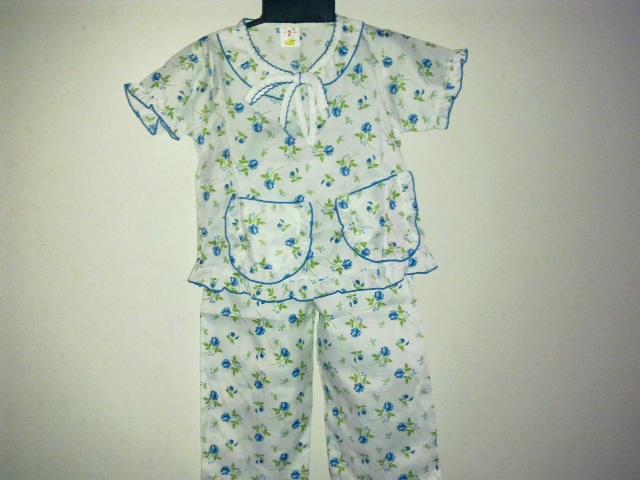Baju Tidur Kanak Perempuan Seluar Panjang