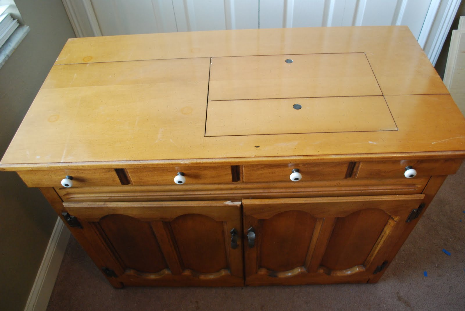 Furniture Makeover Sewing Machine Cabinet