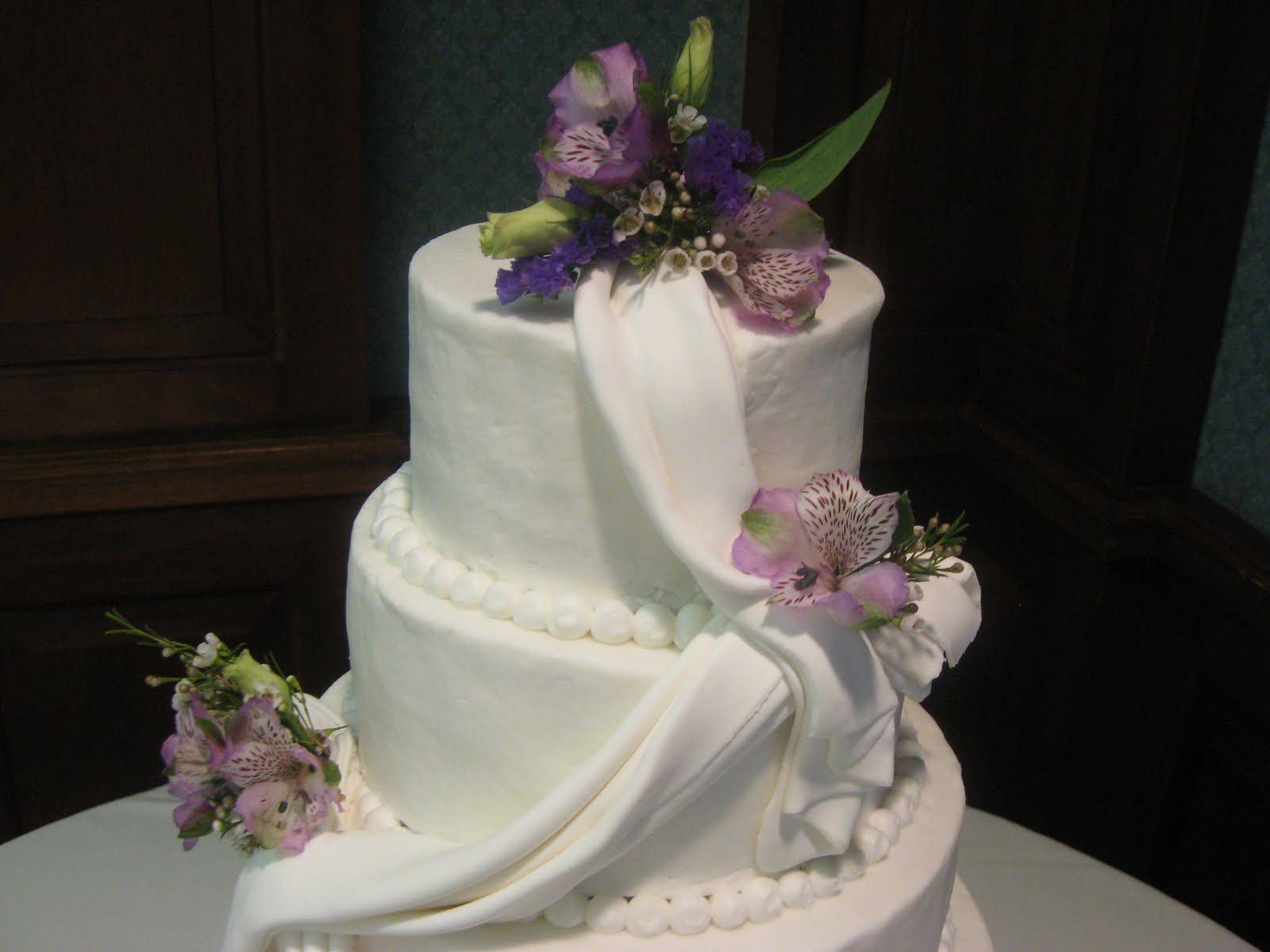 Delectable Sweets By The Smiths: Draped Wedding Cake