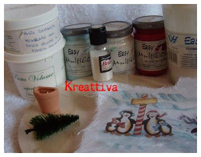 Materiali per realizzare decoupage natalizio