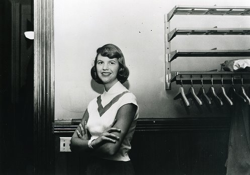 American poet Sylvia Plath. Photograph by Faber Books