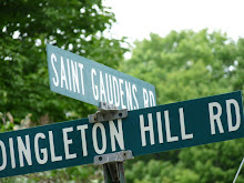 We are located on the corner of St. Gaudens and Dingleton Hill Roads in Cornish, NH
