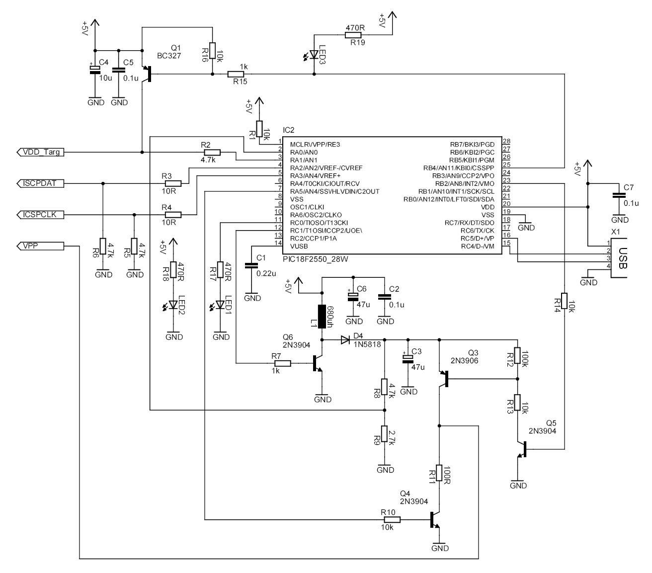 Pickit 2 Programmer Circuit Diagram Three Ring Venn Template Diy Electronics Clone