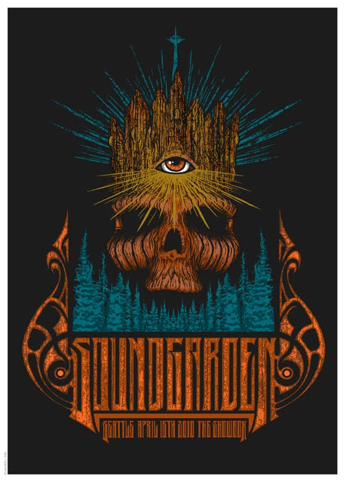 Image result for soundgarden april 16 2010 poster