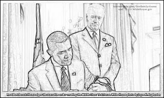 Obama Family Coloring Pages: February 2009