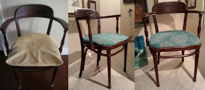 vintage, chair, DIY, before and after, thrifting, antique
