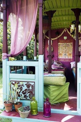 Bungalow, Bohemian, Boho, Interior Design, Decor, Bohemian Decor, hippy, hippies, gypsy
