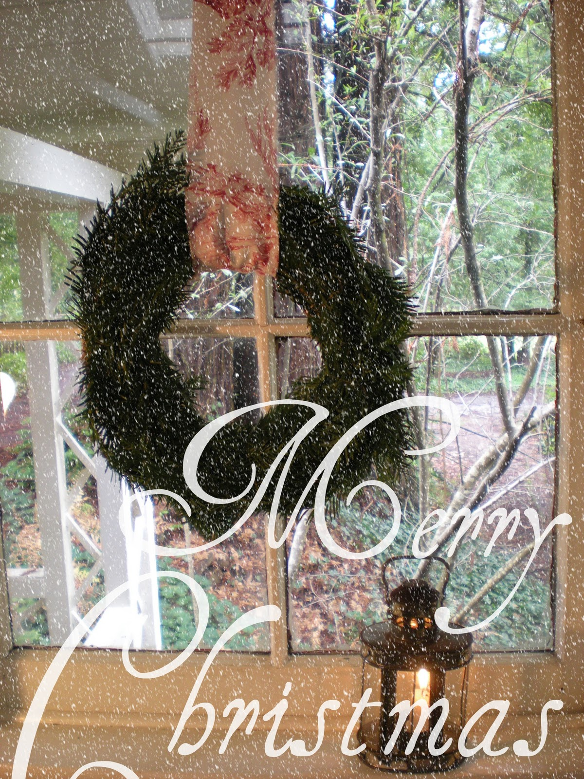 Window Wreaths And Christmas Candles