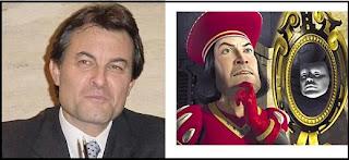 Parecido razonable entre Farquaad a Artur Mas