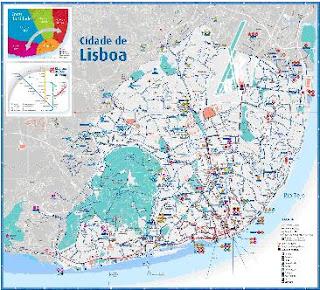 mapa de transportes lisboa Inete TGSI 2: Mapa de Lisboa e Rede de Transportes mapa de transportes lisboa