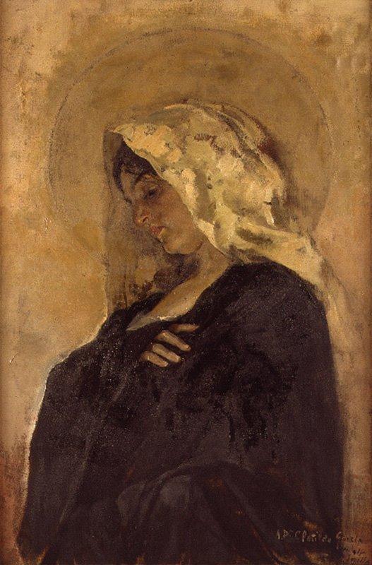 La Virgen María, Joaquín Sorolla Bastida, Retratos de Joaquín Sorolla, Joaquín Sorolla y Bastida, Joaquín Sorolla, Pintor español, Retratista español, Pintores Valencianos