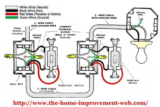 wiring diagram three way switch