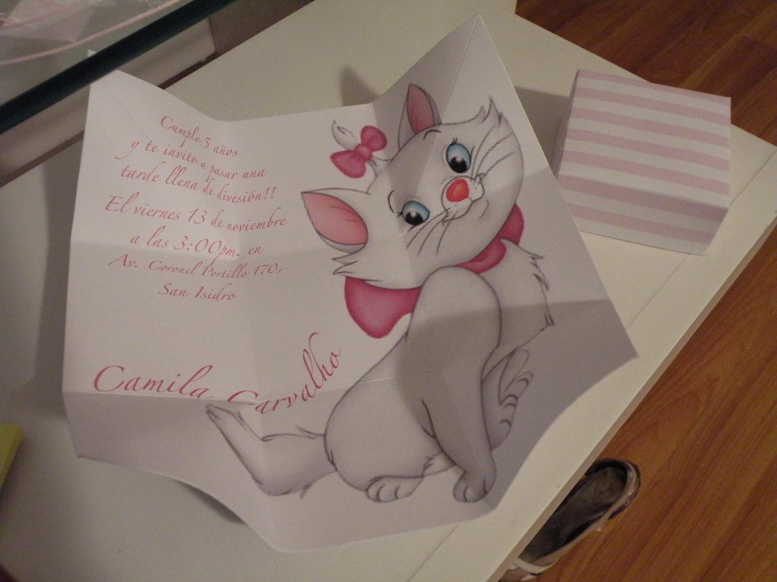 Artefiesta Cumpleaños De Camila La Gatita Marie