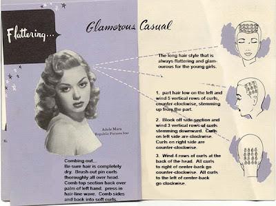vintage pin curls diagram flat trailer plug wiring snoodlebug: hair set -