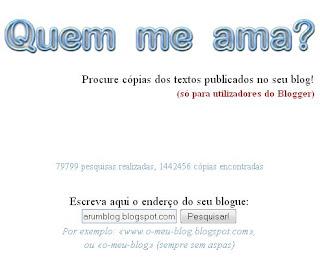 Utilize o Quem me ama? para saber quem está plagiando seu blog