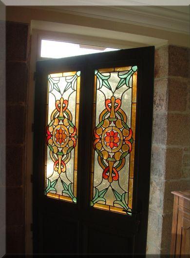 Glass Designer Door Glass Painting