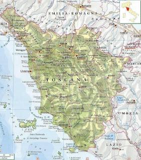 Mapa De La Toscana Y Sus Pueblos.Viaje Por La Toscana 2008