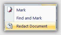 Word 2007 Redaction Tool crear documentos clasificados
