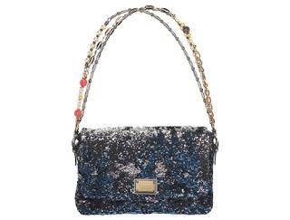 2e3a39da49 Dolce   Gabbana `Miss Charles` bag in blue sequins