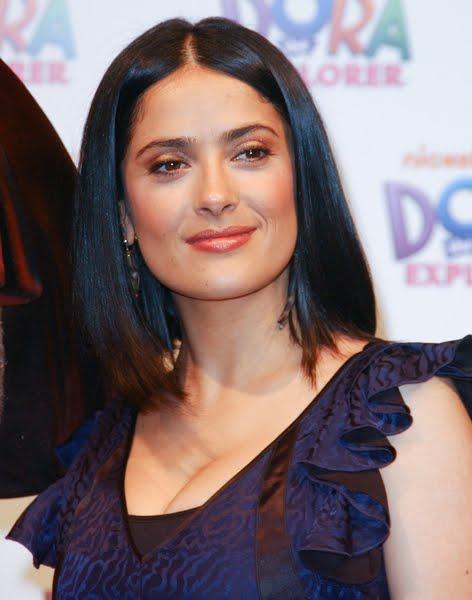 Hairstyles Salma Hayek Trendy Latino Hairstyles