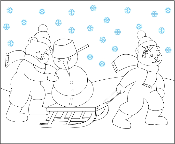 Free Winter Wonderland Coloring Pages widescreen