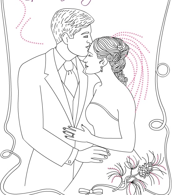 Nicole's Free Coloring Pages: Custom wedding coloring pages