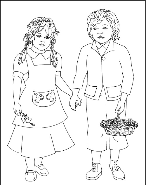 nicole's free coloring pages hansel&gretel * coloring pages