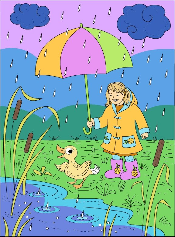 Nicoles Free Coloring Pages Rainy Day