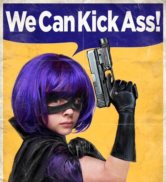 Girls kick butt sexy pics Kick Ass Retro Hit Girl Poster Sandwichjohnfilms