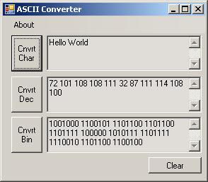 Ascii to binary online conversion