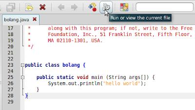 Cara menjalankan java di ubuntu linux berbagi ilmu for Geany templates
