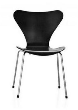Below Is A Black Painted Tolix Two Eames Chairs In Molded Plastic The Arne Jacobsen Designed 7 Series And Plywood