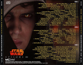 Soundtrack List Covers Star Wars Episode Iii Revenge Of The Sith Complete John Williams