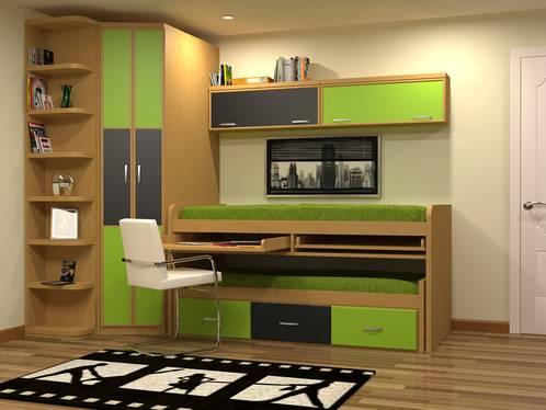 Camas compacto con mesa de estudio - Mesas para dormitorio ...