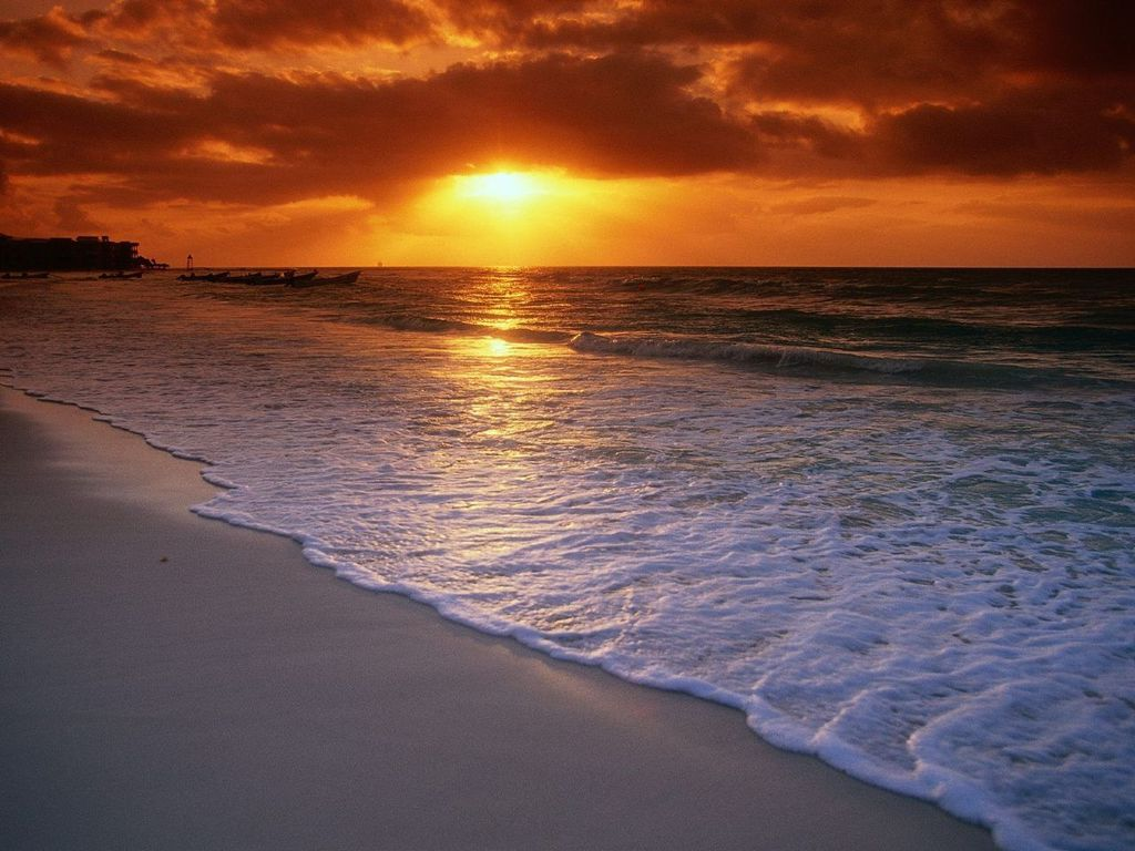 Sunrise Beach Wallpape...