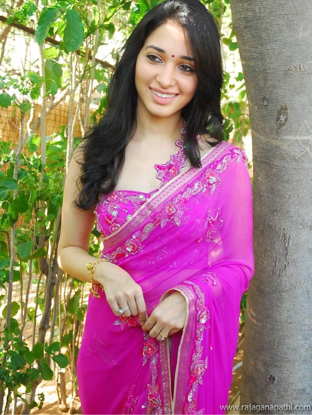 Tamanna Without Makeup: SOUTH ACTRESS TAMANNA BHATIA IN SAREE HOT LATEST PHOTO