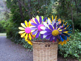 happy daisies in basket