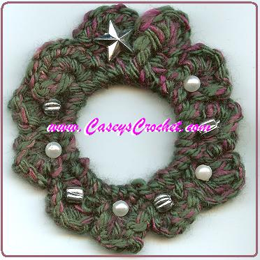 Crochet Wreath pattern by Casey Stanziano
