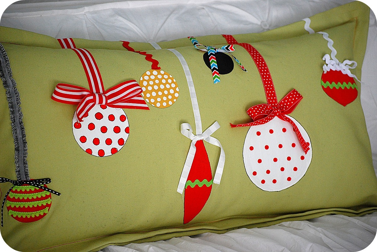 Christmas Project -- make Painted Ornament Pillows