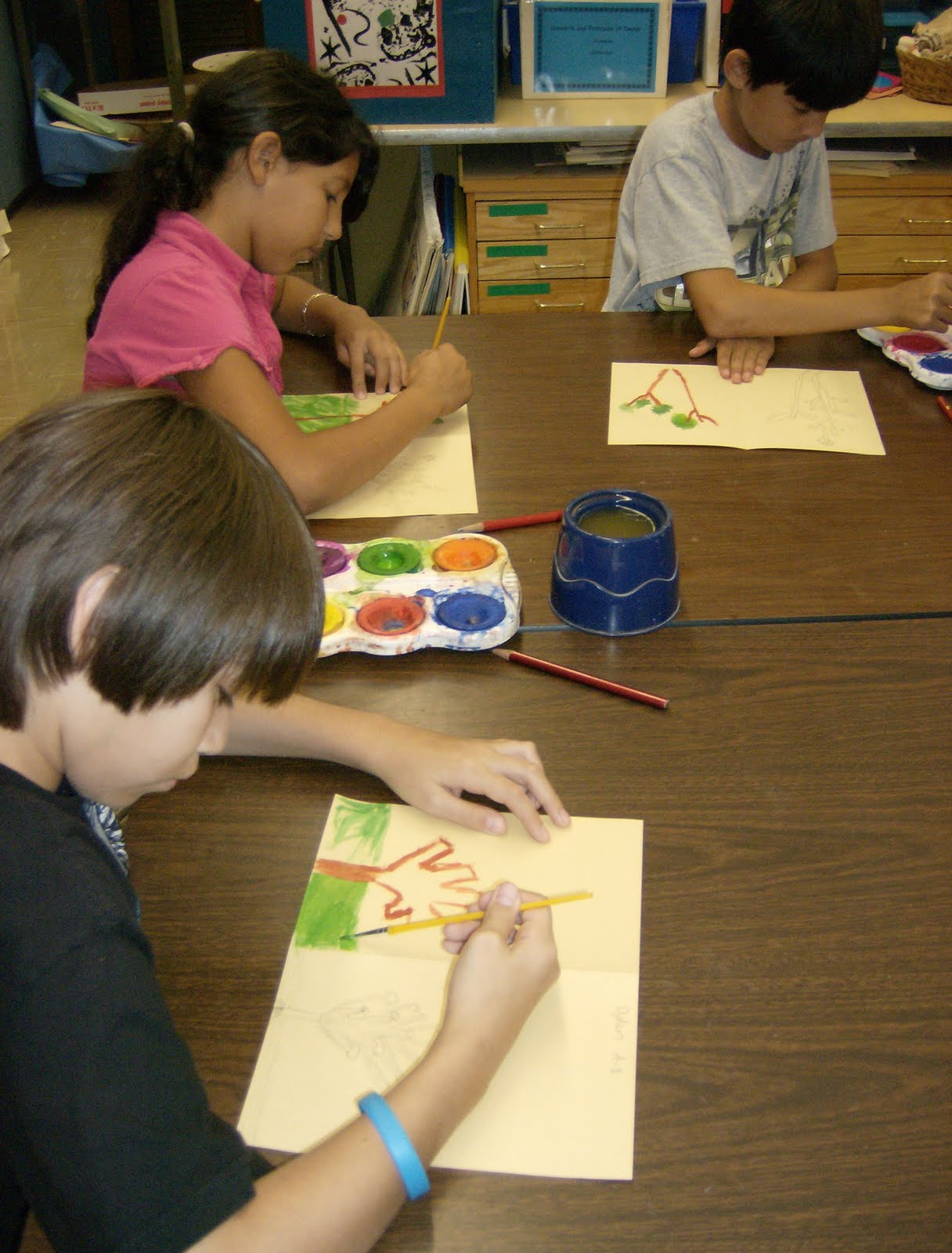 Zilker Elementary Art Class 5th Grade Media Lesson
