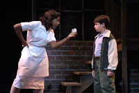 Caroline (C. Kelly Wright) refuses to return $20 to Noah (Julian Hornik) in TheatreWorks production of 'Caroline, or Change'