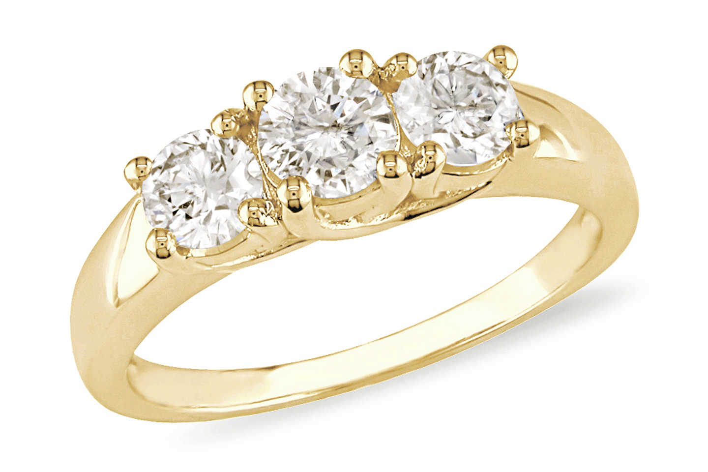 Black Diamond Ring Yellow Gold