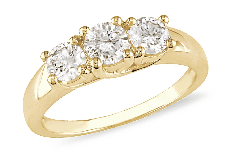 Black Diamond Ring Yellow Gold