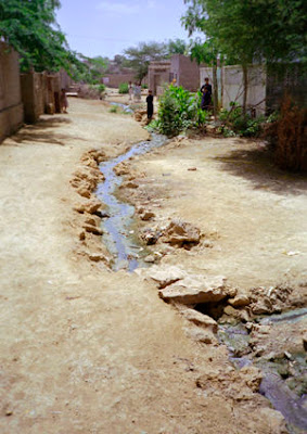 open sewer in Karachi, Pakistan